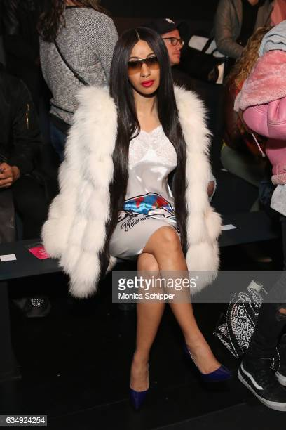 Singer Cardi B attends the Gypsy Sport collection during New York Fashion Week The Shows at Gallery 1 Skylight Clarkson Sq on February 12 2017 in New...