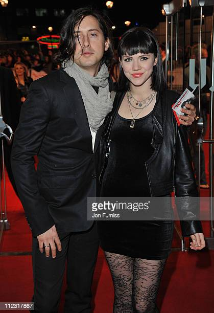 Singer Carl Barat and Edie Langley attend the 'Remember Me' film premiere at the Odeon Leicester Square on March 17 2010 in London England