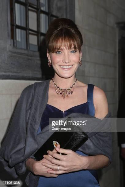 Singer Carla Bruni attends the Bulgari High Jewellery Diva Collection presentation on June 20 2013 in Portofino Italy
