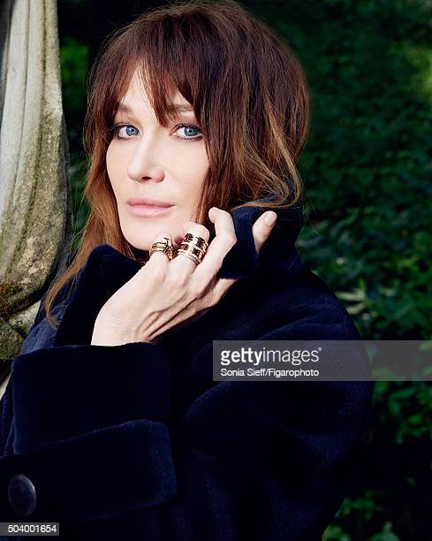 Singer Carla Bruni is photographed for Madame Figaro on June 12 2015 in Paris France Coat rings PUBLISHED IMAGE CREDIT MUST READ Sonia...