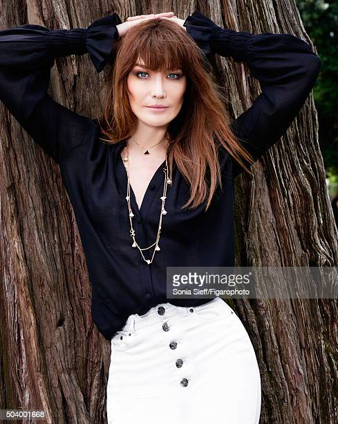 Singer Carla Bruni is photographed for Madame Figaro on June 12 2015 in Paris France Blouse and jeans necklaces COVER IMAGE CREDIT MUST READ Sonia...