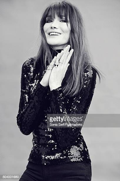 Singer Carla Bruni is photographed for Madame Figaro on June 12 2015 in Paris France Top rings PUBLISHED IMAGE CREDIT MUST READ Sonia...