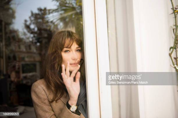 Singer Carla Bruni is photographed for Paris Match on April 1 2013 in Paris France