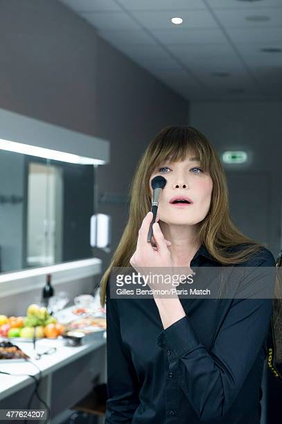 Singer Carla Bruni is photographed for Paris Match on January 17 2014 in Saint Raphael France