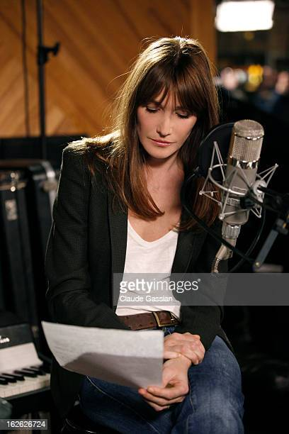Singer Carla Bruni is photographed for Self Assignment on January 18 2013 in Paris France
