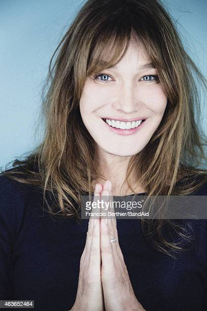 Singer Carla Bruni Sarkozy is photographed for Self Assignment on November 23 2014 in Paris France