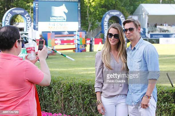 Singer Carlos Baute and wife Astrid Klisans attend Global Champion Tour Day 3 on May 4 2014 in Madrid Spain