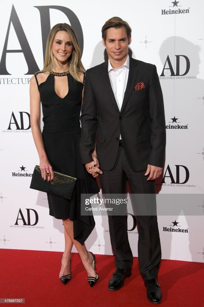 Singer <a gi-track='captionPersonalityLinkClicked' href=/galleries/search?phrase=Carlos+Baute&family=editorial&specificpeople=2089918 ng-click='$event.stopPropagation()'>Carlos Baute</a> and wife Astrid Klisans attend the AD Awards 2014 at the Santa Coloma Palace on February 27, 2014 in Madrid, Spain.