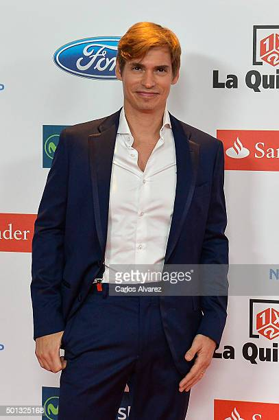 Singer Carlos Baute attends the 2015 'AS Del Deporte' Awards at The Westin Palace Hotel on December 14 2015 in Madrid Spain