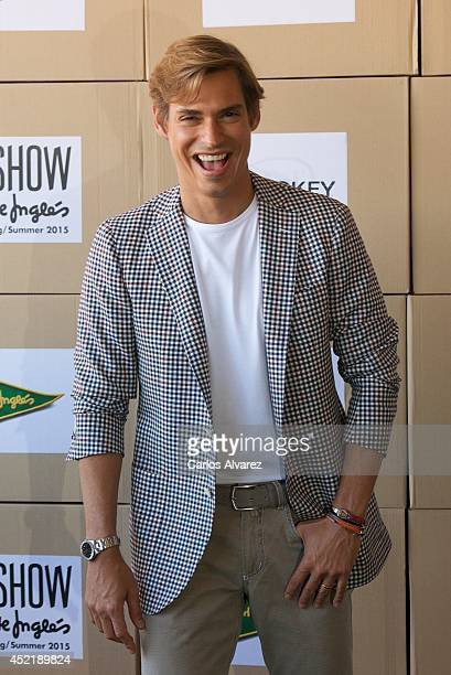 Singer Carlos Baute attends the Jockey show during MFSHOW 2014 day 2 at COAM on July 15 2014 in Madrid Spain