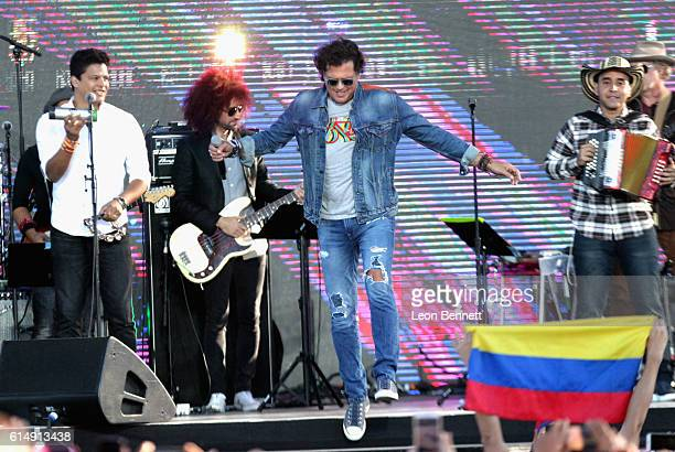 Singer Carlos Vives performs onstage at Univision and Fusion host RiseUp AS ONE at Cross Border Xpress on October 15 2016 in San Diego California