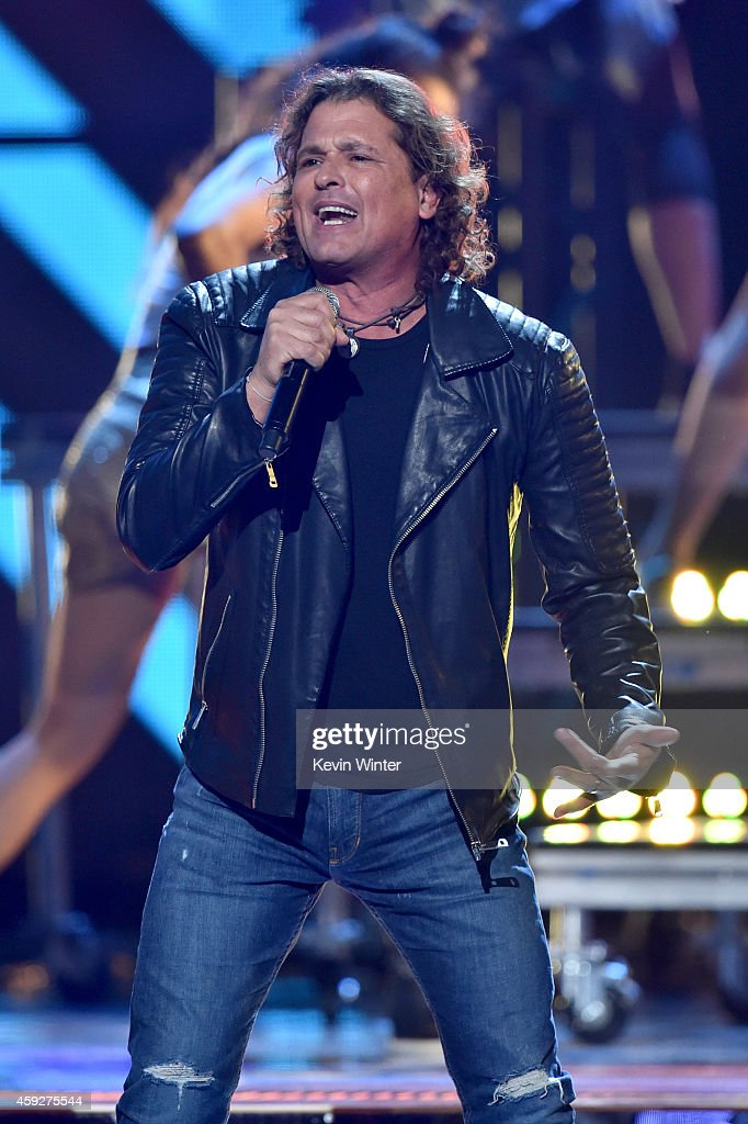 Singer Carlos Vives performs onstage during rehearsals for the 15th annual Latin GRAMMY Awards at the MGM Grand Garden Arena on November 19, 2014 in Las Vegas, Nevada.