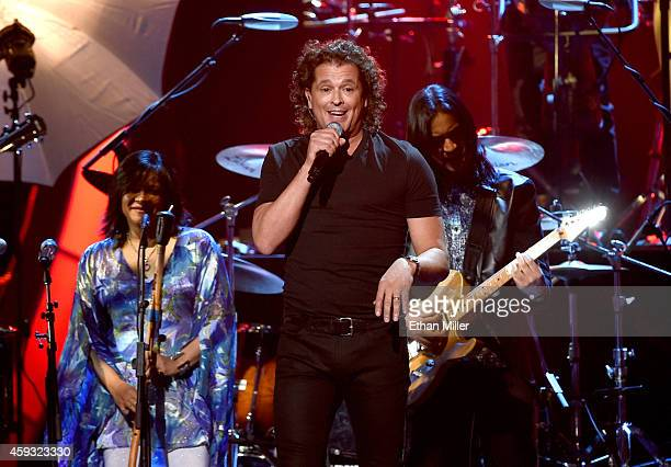 Singer Carlos Vives performs onstage during the 15th Annual Latin GRAMMY Awards at the MGM Grand Garden Arena on November 20 2014 in Las Vegas Nevada