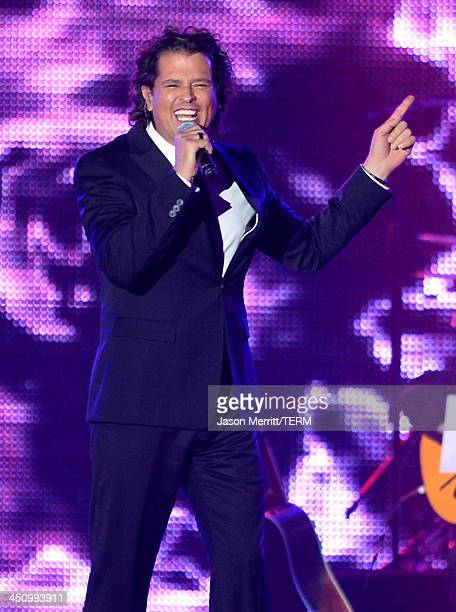 Singer Carlos Vives performs onstage during the 2013 Latin Recording Academy Person Of The Year honoring Miguel Bose at the Mandalay Bay Convention...