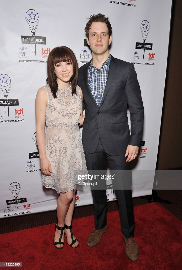 Singer Carly Rae Jepsen and actor Joe Carroll attend the 29th Annual Lucille Lortel Awards at NYU Skirball Center on May 4, 2014 in New York City.
