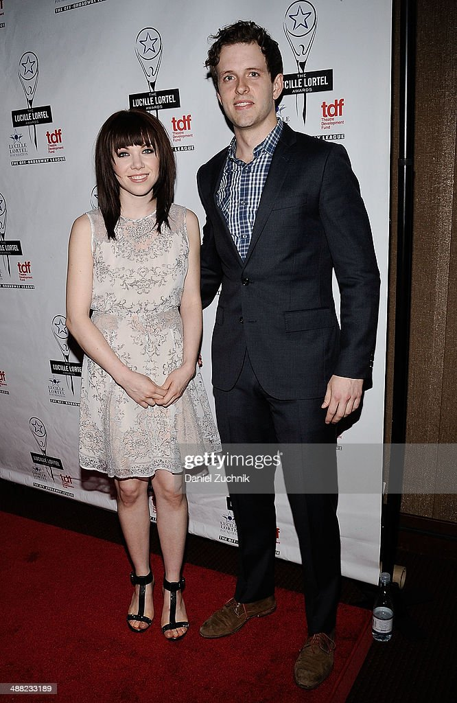 Singer Carly Rae Jepsen and Joe Carroll attend the 29th Annual Lucille Lortel Awards at NYU Skirball Center on May 4, 2014 in New York City.