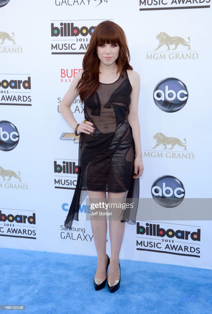 Singer Carly Rae Jepsen arrives at the 2013 Billboard Music Awards at the MGM Grand Garden Arena on May 19, 2013 in Las Vegas, Nevada.