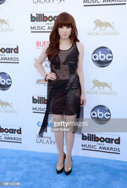 Singer Carly Rae Jepsen arrives at the 2013 Billboard Music Awards at the MGM Grand Garden Arena on May 19 2013 in Las Vegas Nevada