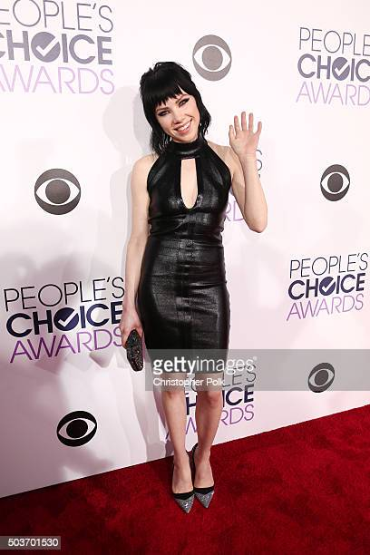 Singer Carly Rae Jepsen at Microsoft Theater on January 6 2016 in Los Angeles California
