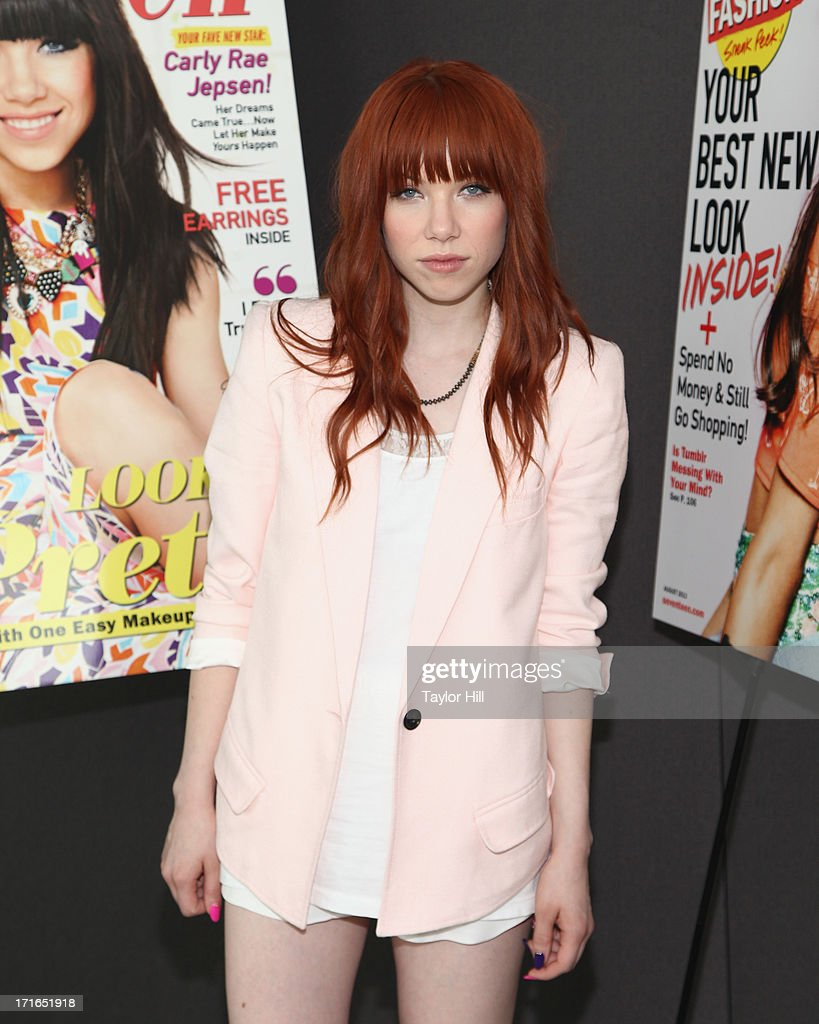 Singer Carly Rae Jepsen attends a Seventeen Magazine Luncheon Honoring 'Pretty Amazing' Finalists at Hearst Tower on June 27, 2013 in New York City.