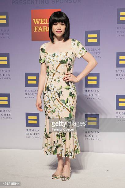 Singer Carly Rae Jepsen attends the 19th Annual HRC National Dinner at Walter E Washington Convention Center on October 3 2015 in Washington DC