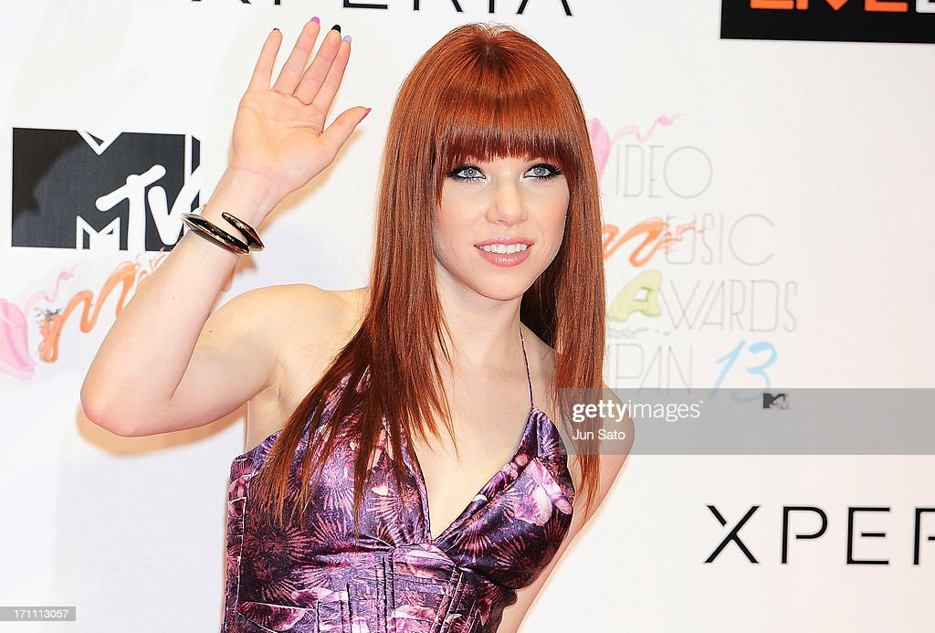 Singer <a gi-track='captionPersonalityLinkClicked' href=/galleries/search?phrase=Carly+Rae+Jepsen&family=editorial&specificpeople=6903584 ng-click='$event.stopPropagation()'>Carly Rae Jepsen</a> attends the MTV Video Music Awards Japan 2013 at Makuhari Messe on June 22, 2013 in Chiba, Japan.