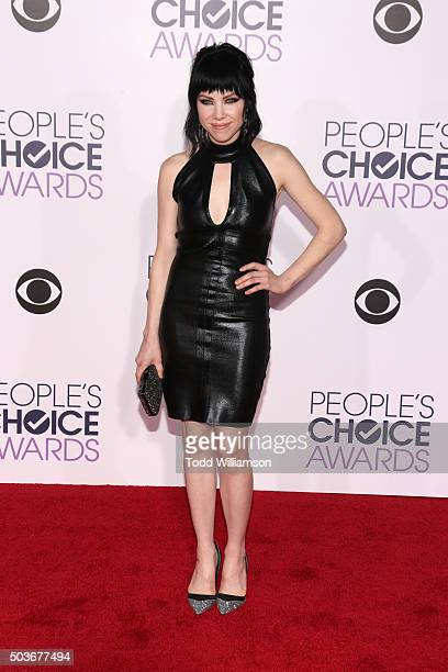 Singer Carly Rae Jepsen attends the People's Choice Awards 2016 at Microsoft Theater on January 6 2016 in Los Angeles California