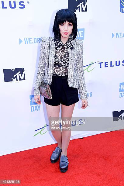 Singer Carly Rae Jepsen attends WE Day Toronto at the Air Canada Centre on October 1 2015 in Toronto Canada