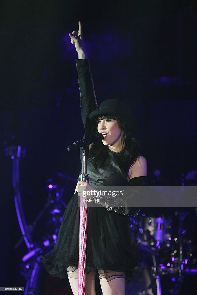Singer Carly Rae Jepsen performs at the Birmingham Jefferson Convention Complex on January 16, 2013 in Birmingham, Alabama.
