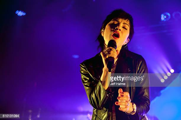 Singer Carly Rae Jepsen performs at The Fillmore Charlotte on February 13 2016 in Charlotte North Carolina