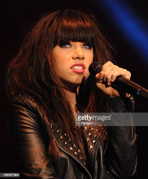 Singer Carly Rae Jepsen performs during the Now 997 Triple Ho Ball at HP Pavilion on December 14 2012 in San Jose California