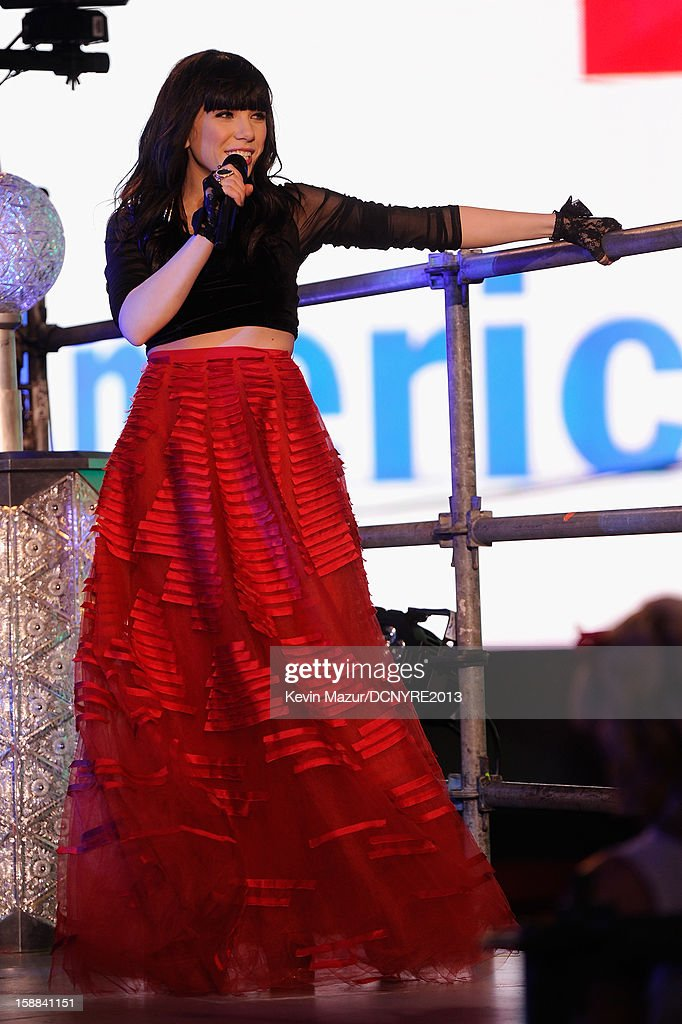 Singer Carly Rae Jepsen performs onstage at Dick Clark's New Year's Rockin' Eve with Ryan Seacrest 2013 in Times Square on December 31, 2012 in New York City, New York.