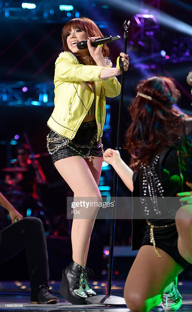 Singer Carly Rae Jepsen performs onstage at FOX's 'American Idol' Season 12 Top 2 Live Performance Show at Nokia Theatre L.A. Live on May 15, 2013 in Los Angeles, California.