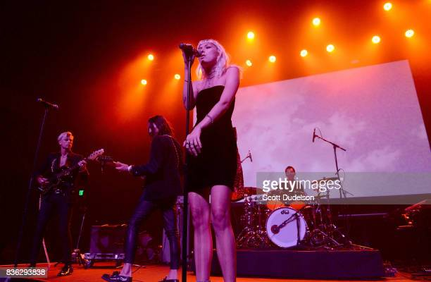 Singer Carly Russ of Girlyboi performs onstage during the GIRL CULT Festival at The Fonda Theatre on August 20 2017 in Los Angeles California