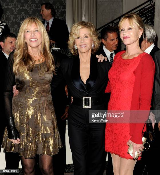 Singer Carly Simon actresses Jane Fonda and Melanie Griffith arrive at the Oceana Partners Award Gala at the Beverly Wilshire Hotel on October 30...