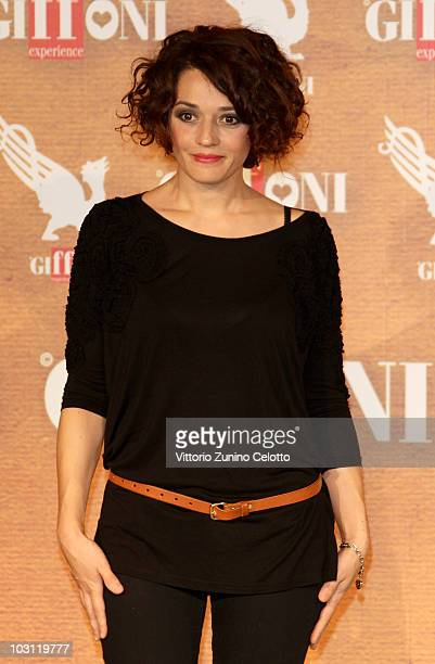 Singer Carmen Consoli attends a photocall during Giffoni Experience 2010 on July 27 2010 in Giffoni Valle Piana Italy