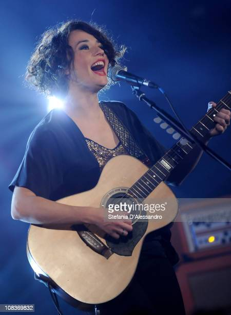 Singer Carmen Consoli performs at RadioItaliaLive on January 26 2011 in Milan Italy