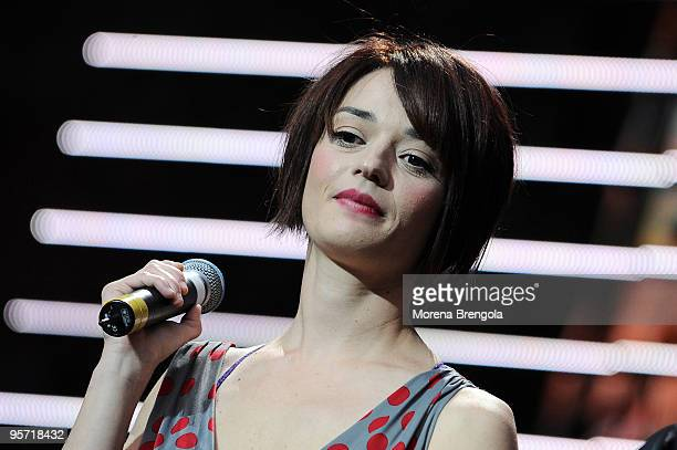 Singer Carmen Consoli performs at the charity concert 'Amiche Per L'Abruzzo' on June 21 2009 in Milan Italy