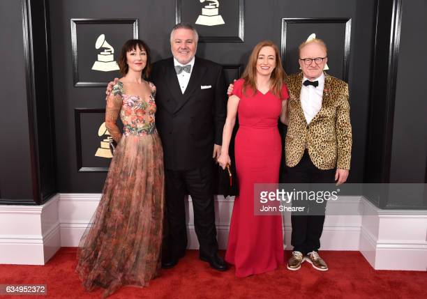 Singer Carmen Cusackand producers Jay Alix Una Jackman and Peter Asher attend The 59th GRAMMY Awards at STAPLES Center on February 12 2017 in Los...