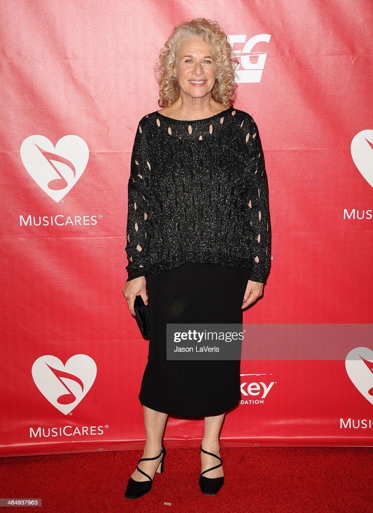 Singer Carole King attends the 2014 MusiCares Person of the Year honoring Carole King at Los Angeles Convention Center on January 24, 2014 in Los Angeles, California.