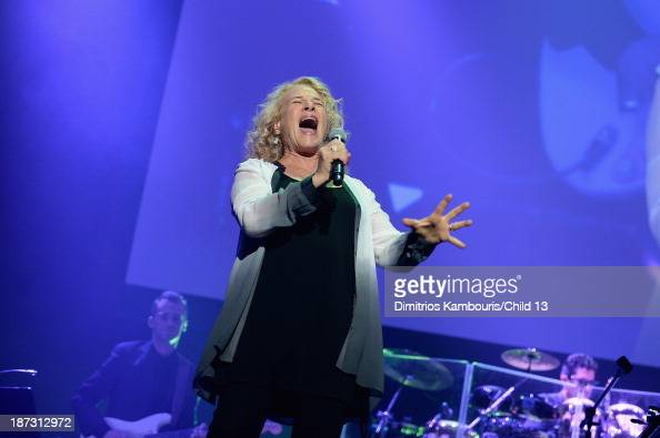 Singer Carole King performs on stage at Keep A Child Alive's 10th Annual Black Ball at Hammerstein Ballroom on November 7 2013 in New York City