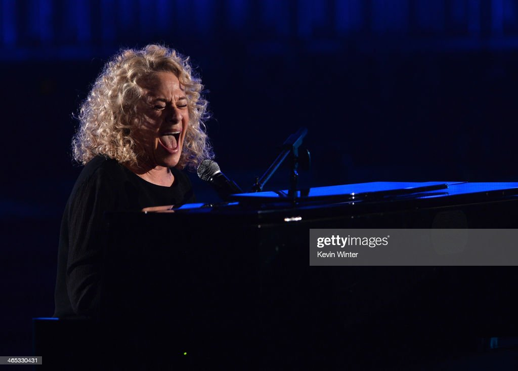 Singer Carole King performs onstage during the 56th GRAMMY Awards at Staples Center on January 26 2014 in Los Angeles California
