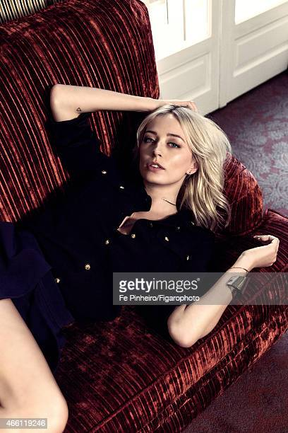 Singer Caroline Vreeland is photographed for Madame Figaro on January 26 2015 in Paris France Shirt skirt necklace body chain cuff CREDIT MUST READ...