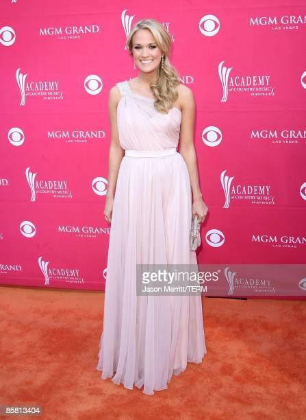 Singer Carrie Underwood arrives at the 44th annual Academy Of Country Music Awards held at the MGM Grand on April 5 2009 in Las Vegas Nevada