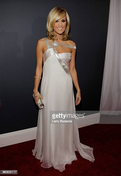 Singer Carrie Underwood arrives at the 52nd Annual GRAMMY Awards held at Staples Center on January 31 2010 in Los Angeles California