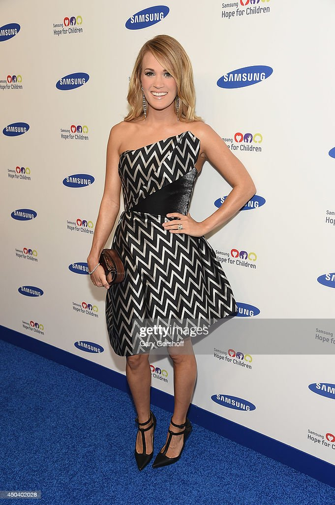 Singer Carrie Underwood attends the 13th Annual Samsung Hope For Children Gala at Cipriani Wall Street on June 10 2014 in New York City