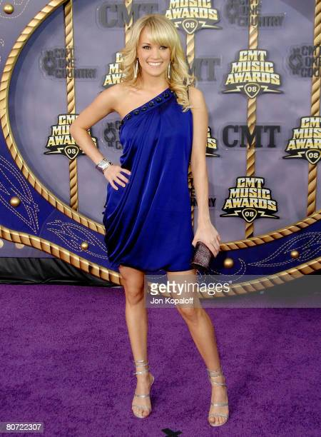 Singer Carrie Underwood attends the 2008 CMT Music Awards at the Curb Events Center at Belmont University on April 14 2008 in Nashville Tennessee