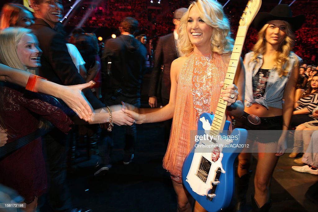 Singer Carrie Underwood attends the 2012 American Country Awards at the Mandalay Bay Events Center on December 10, 2012 in Las Vegas, Nevada.
