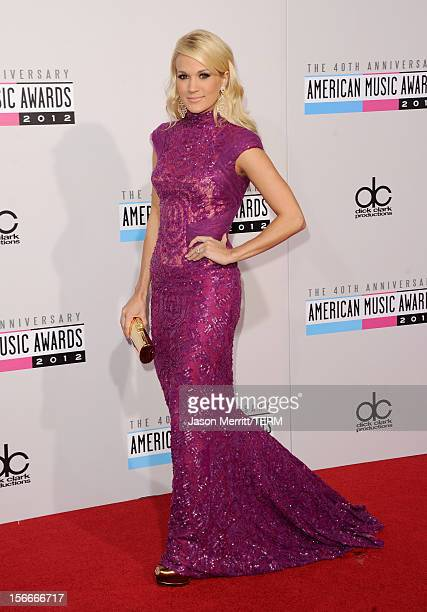 Singer Carrie Underwood attends the 40th American Music Awards held at Nokia Theatre LA Live on November 18 2012 in Los Angeles California