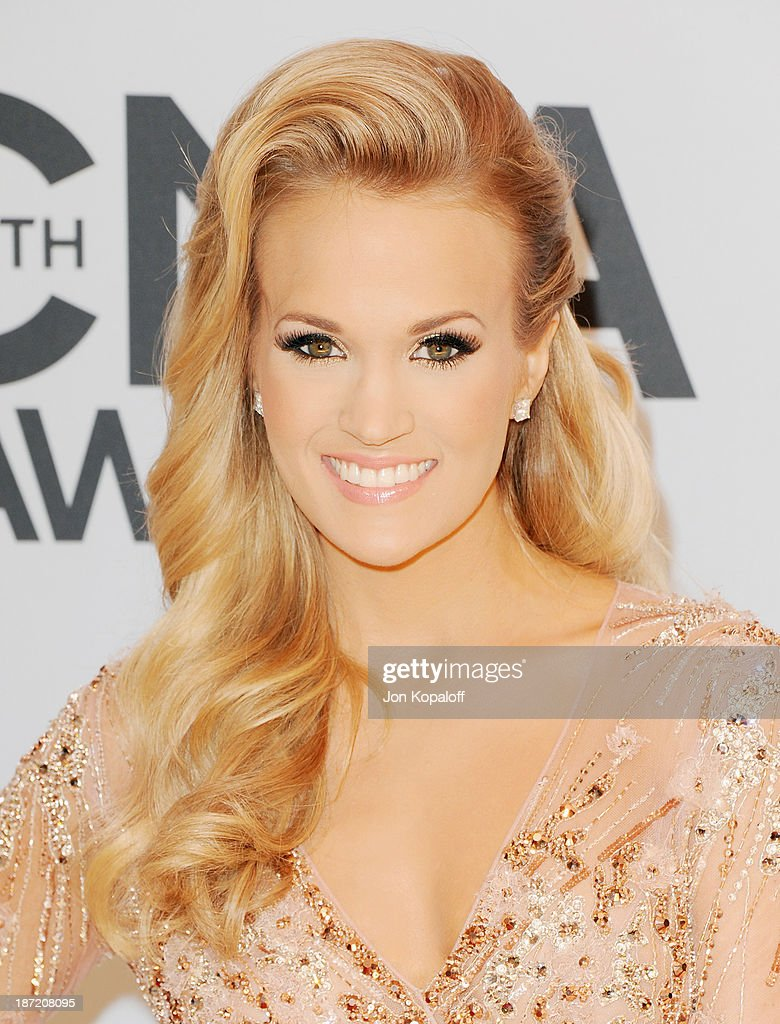 Singer Carrie Underwood attends the 47th annual CMA Awards at the Bridgestone Arena on November 6, 2013 in Nashville, Tennessee.